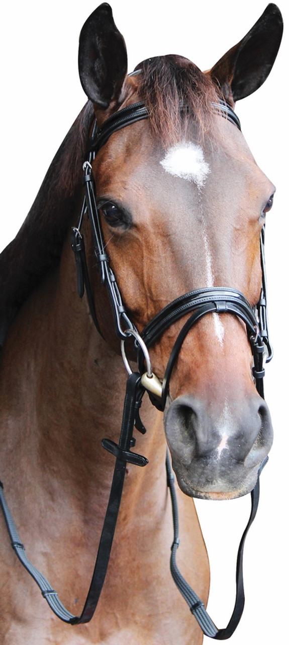 Collegiate Equestrian Mono Crown Drop Noseband European Leather ALL SIZES /& COLO