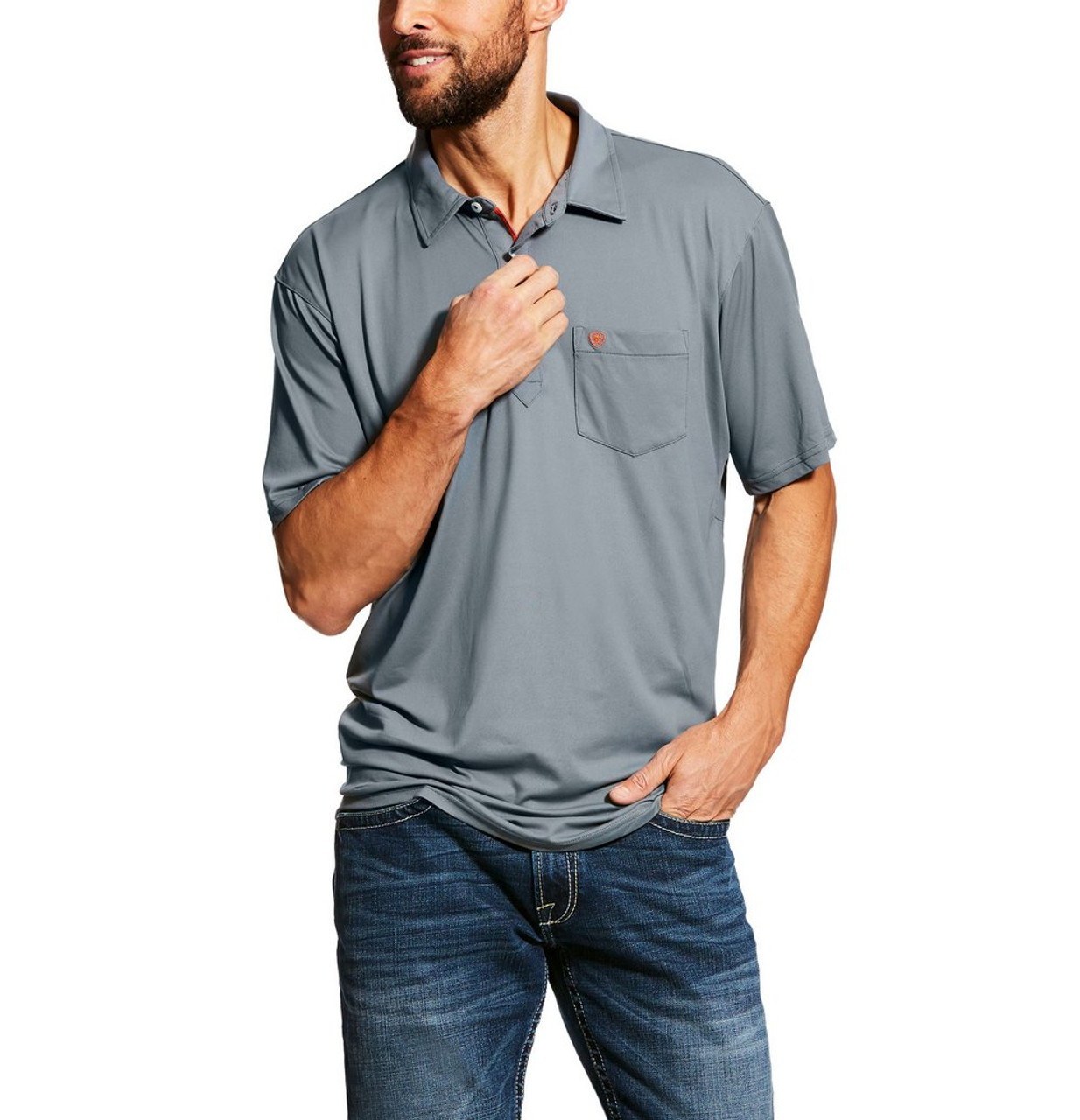 af7700a7 Ariat Men's Freeze Point Polo- Mens Riding Shirts