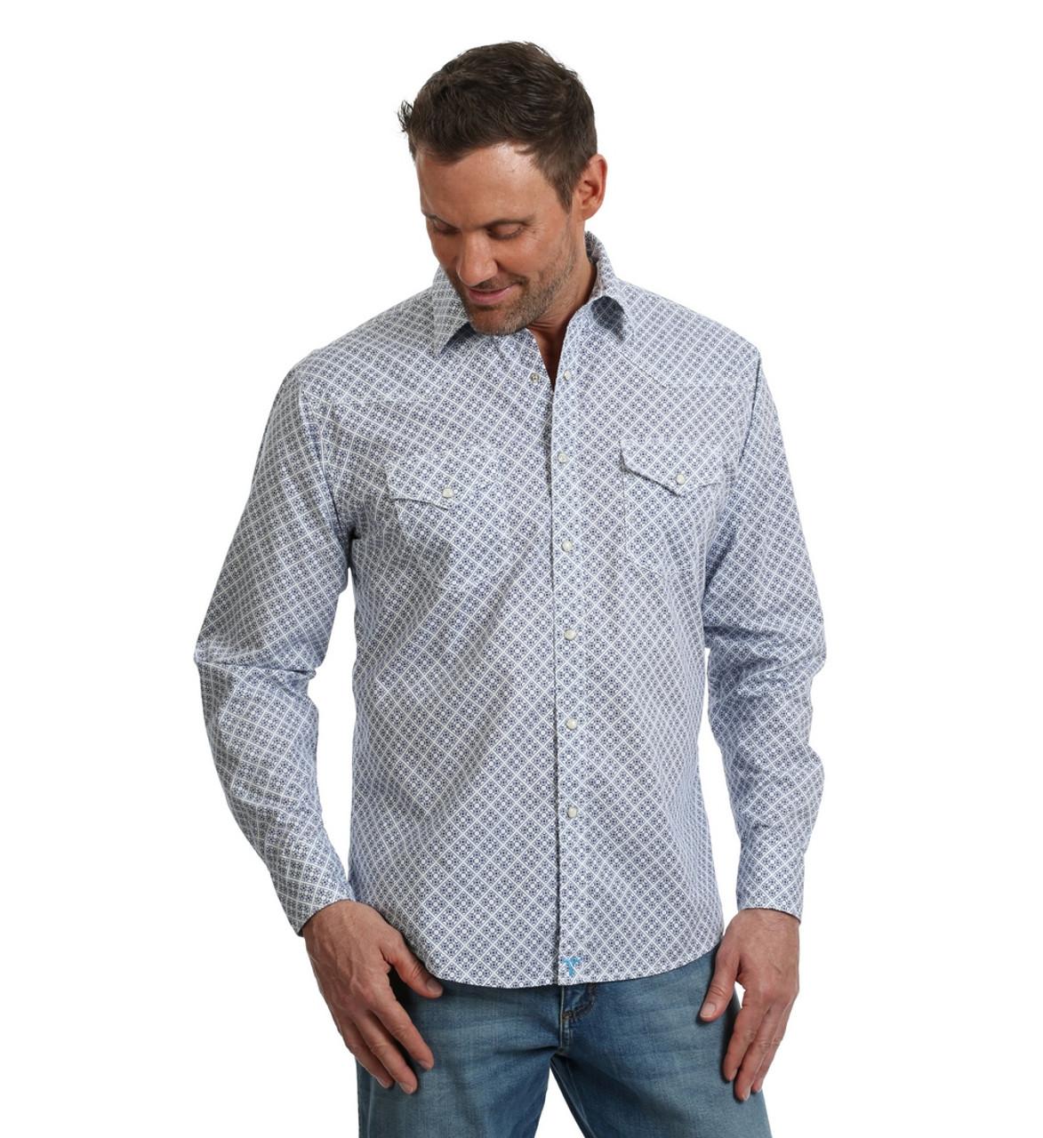 e36c8a17 Wrangler 20X Adv Comfort Print Shirt- Western Wear