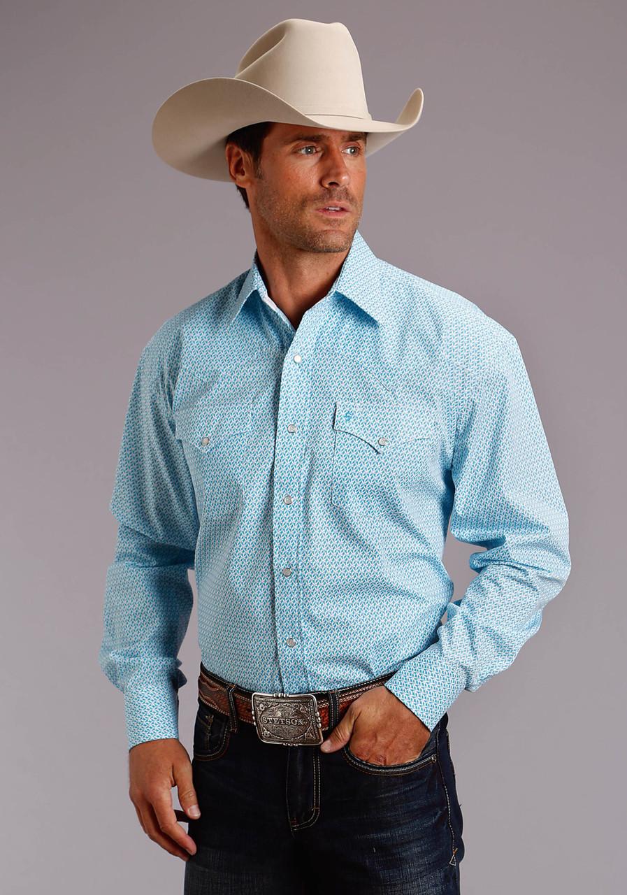 3c53d92f613cb Stetson Ivy Print Shirt- Western Wear