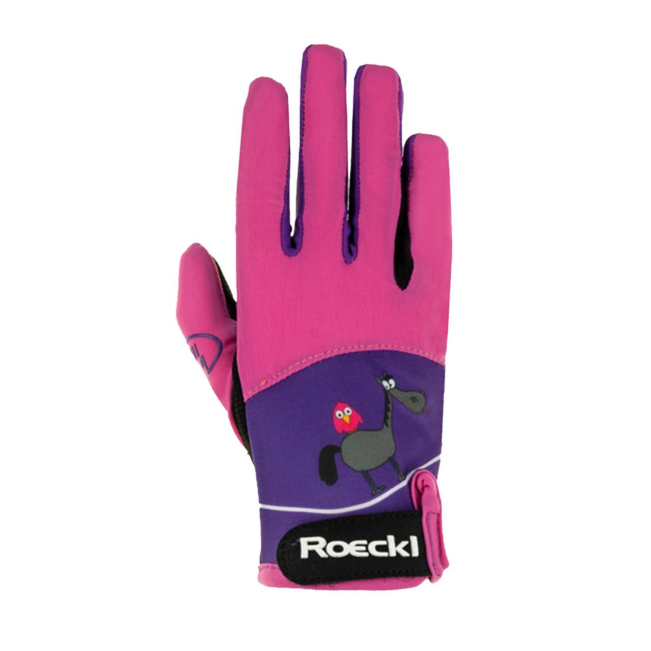Details about  /Roeckl Kansas Kids Gloves Pink//Turq Colors