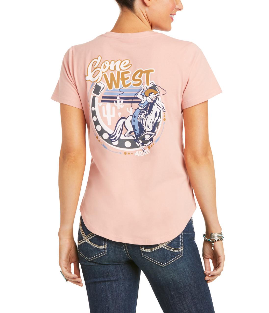 Ariat Gone West Tee- Ladies Western Tops