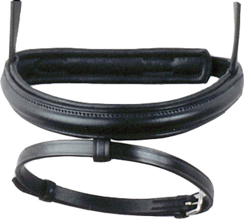 Bobby's English Tack Padded Wide Noseband with Flash