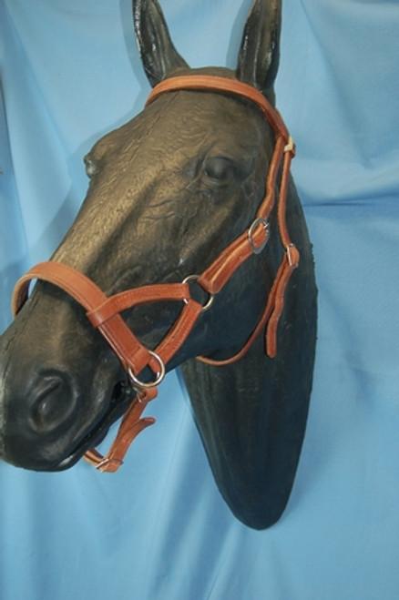 Buckaroo Leather Flat Nose Sidepull