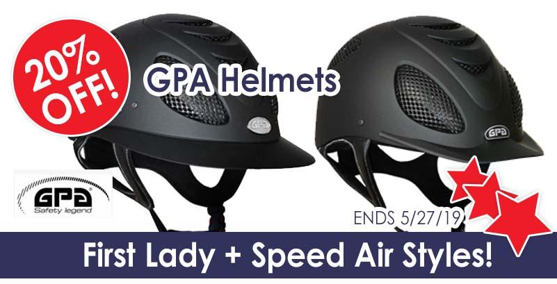 Sale on GPA helmets!