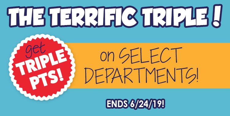 3X Pts on Select Depts!