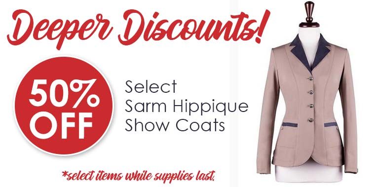 Save up to 50% on Select Show Coats!