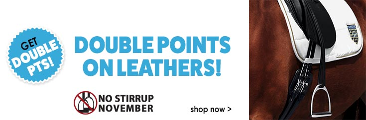 Get Double Points on Leathers!