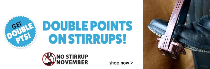 Get Double Points on Stirrups!