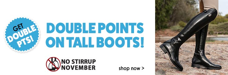 Get Double Points on Tall Boots!