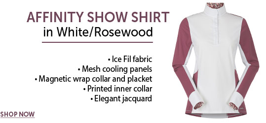 Kerrits, Exclusive, Affinity Show Shirt, IceFil, White Show Shirt, Long Sleeve Top