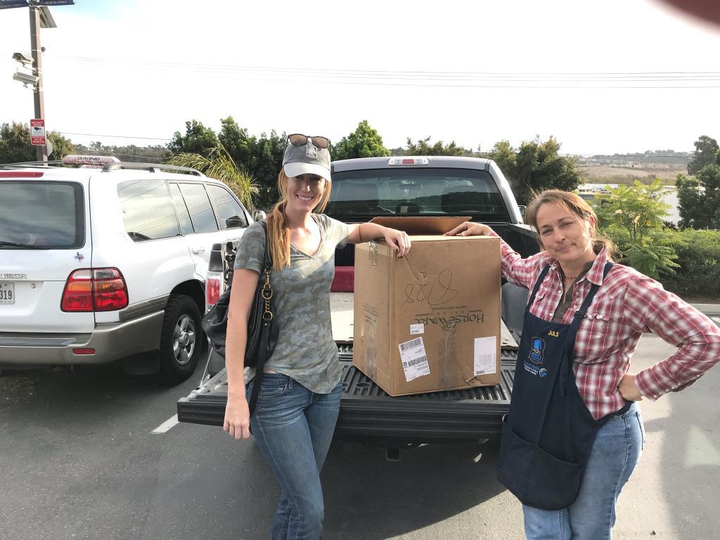 Mary's Volunteers Helping Evacuees