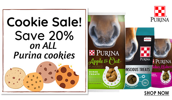 Cookie Sale! Save 20% on All Purina Horse Treats!