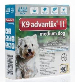 K9 Advantix Ii Medium Dog Flea Tick Prevention