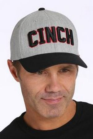 Cinch FlexFit Cap Grey Black- Ball Caps 5a7ac0aaa6e8