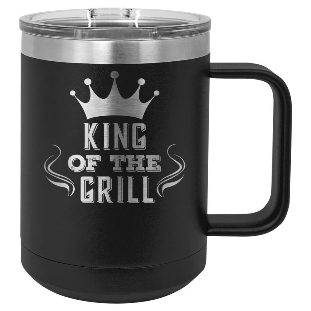 King of the Grill - 15 oz Coffee Mug