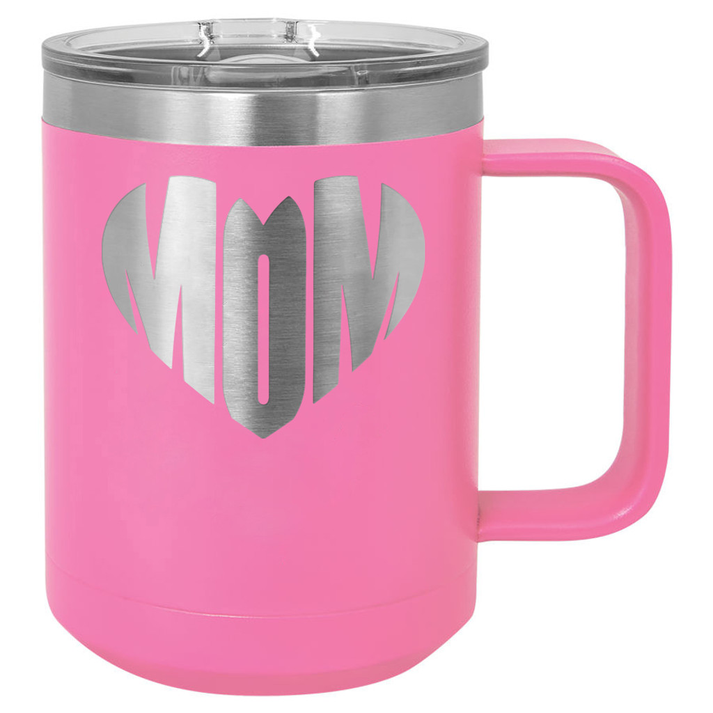 Mom Heart - 15 oz Coffee Mug