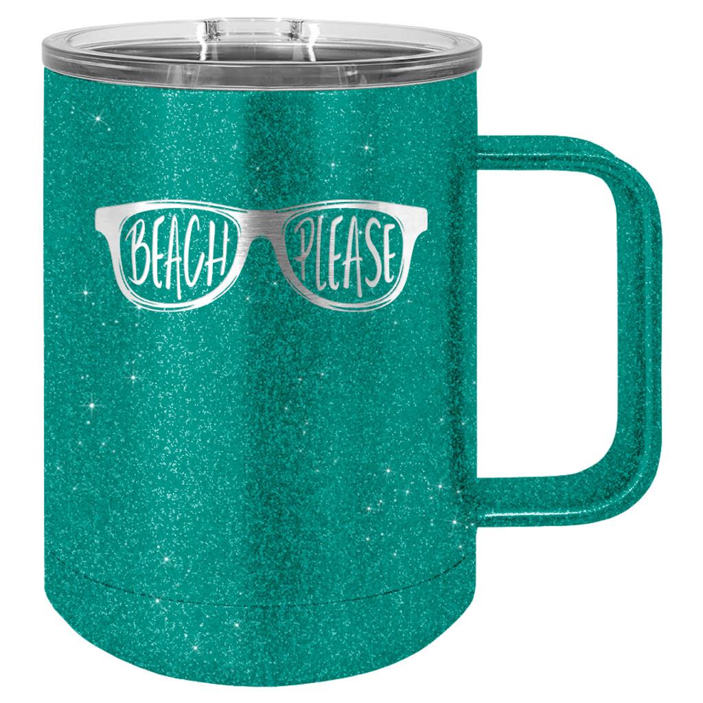 Beach Please - 15 oz Coffee Mug Tumbler
