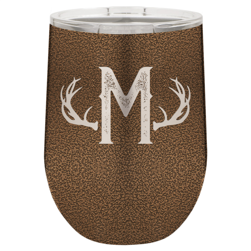 Antlers Monogram - Stemless Tumbler
