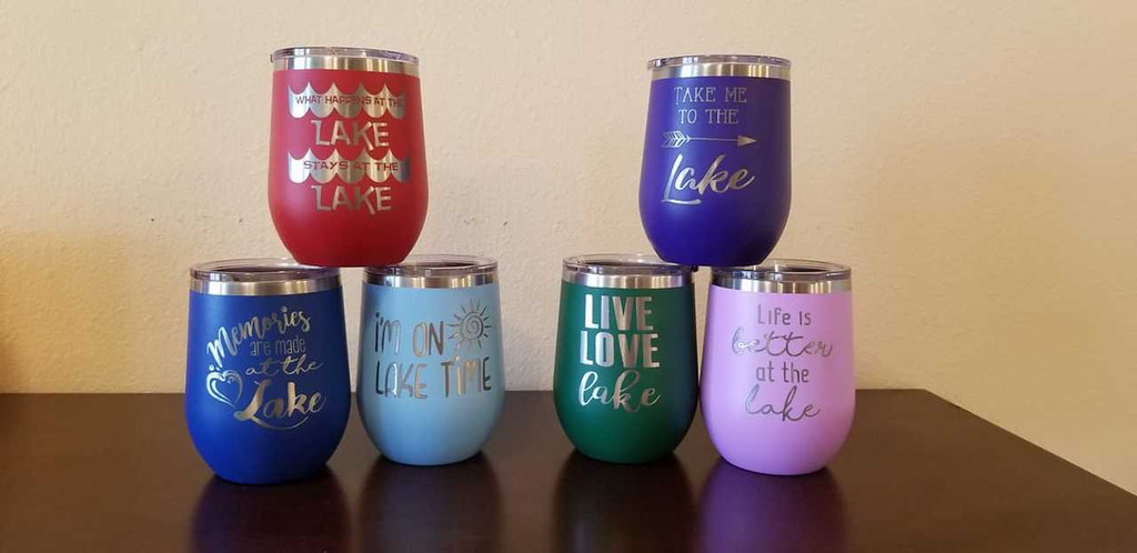 Memories Are Made at the Lake - Stemless Tumbler