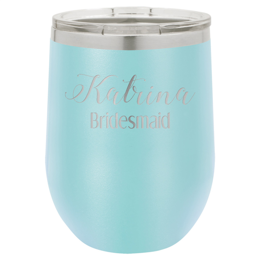 Personalized Bridesmaid - Stemless Tumbler