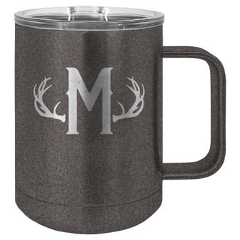 Antler Monogram - 15 oz Coffee Mug