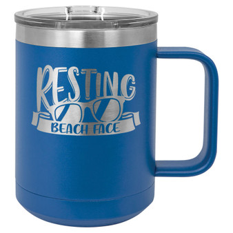 Resting Beach Face - 15 oz Coffee Mug