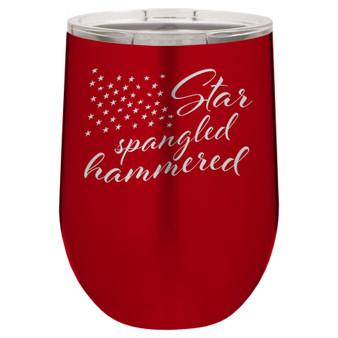 Star Spangled Hammered - Stemless Tumbler