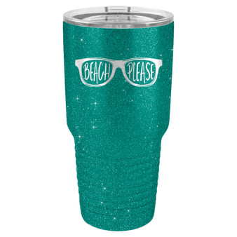 Beach Please - 20 & 30 oz Tumbler
