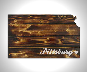 Customized Home Heart- Torched Pallet