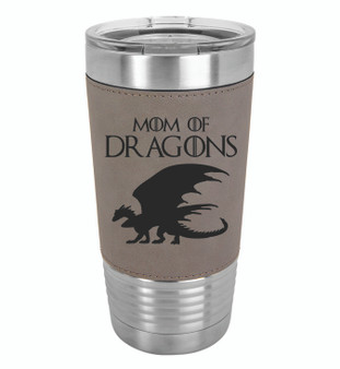 Mom of Dragons - 20 oz Leatherette Tumbler