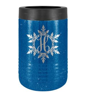 Snowflake Monogram - Beverage Holder