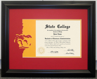 PSU Diploma Mat and Frame
