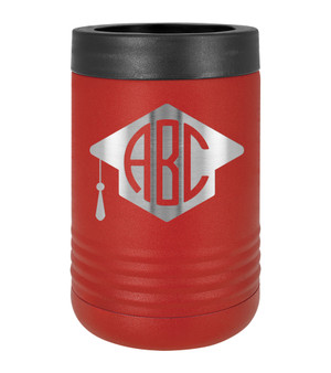 Graduation Cap Monogram - Beverage Holder