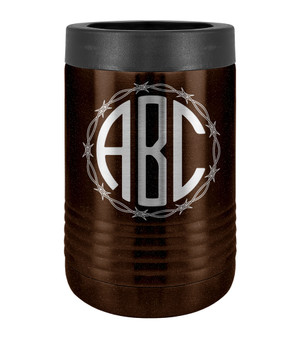 Barbed Wire Monogram - Beverage Holder
