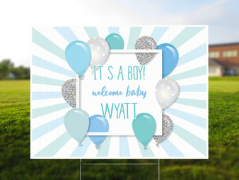 Personalized It's a Boy Yard Sign - Baby Shower Yard Sign