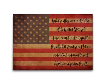 Pledge of Allegiance American Flag Pallet
