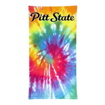Pitt State Tie-Dye Logo Gaiter Mask Face Cover