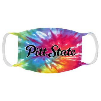 Pitt State Tie-Dye Face Mask