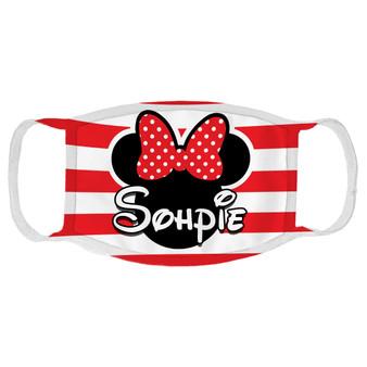 Custom Minnie Mouse Face Mask