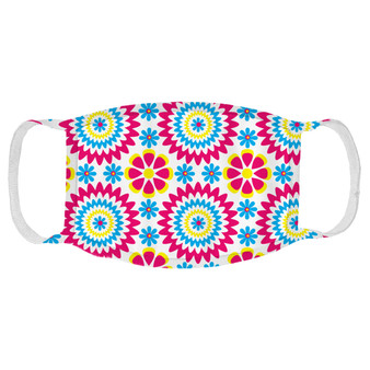 70's Flowers Face Mask