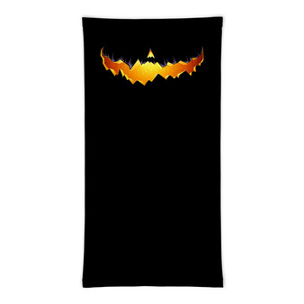 Spooky Pumpkin Smile Gaiter Mask Face Cover