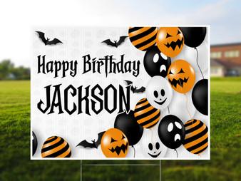 Personalized Halloween Birthday Yard Sign