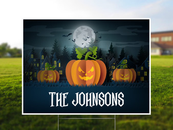 Personalized Spooky Halloween Yard Sign
