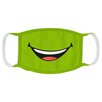 Green Smile Face Mask