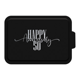 Custom Happy Anniversary - Aluminum Cake Pan