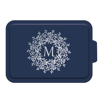 Custom Monogram Wreath - Aluminum Cake Pan