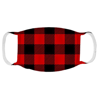 Red Buffalo Plaid Face Mask