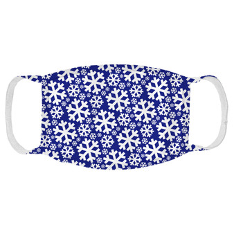 Snowflakes Navy Pattern Face Mask