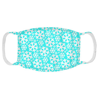 Snowflakes Teal Pattern Face Mask